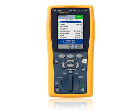 DTX系列电缆认证分析仪(DTX-1800,DTX-1200,DTX-LT,DTX-CLT)