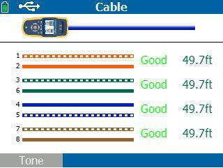 福禄克Linkrunner AT电缆测试仪查找电缆布线图