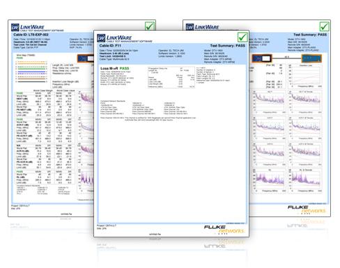 福禄克fluke LinkWare 管理软件