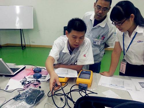 福禄克DTX1800客户案例 - 瓷办公设备科技(东莞)有限公司品保部工程师