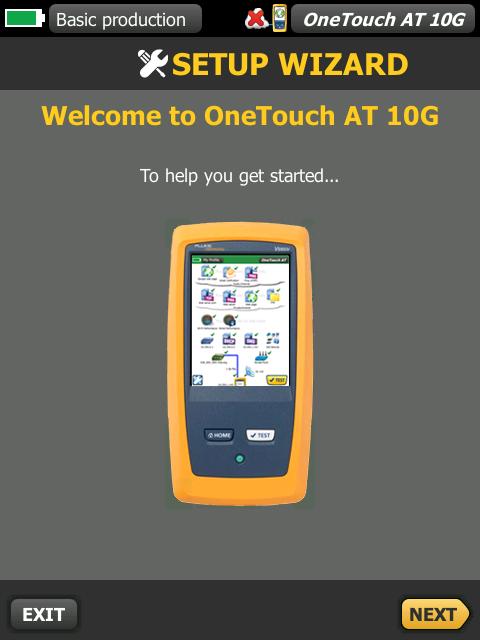 福禄克Fluke  1T10G-1000 <a href='http://www.faxy-tech.com/' class='keys' title='点击查看关于网络测试仪的相关信息' target='_blank'>网络测试仪</a>Onetouch AT 设置界面