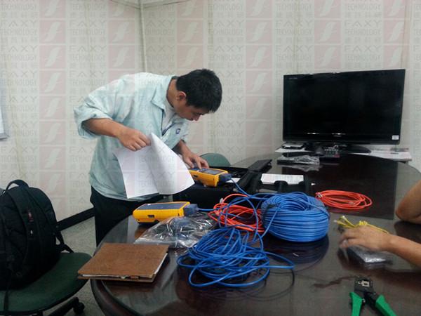 【广东东莞】福禄克DTX-1800解决线材问题案例 工程师测试场景