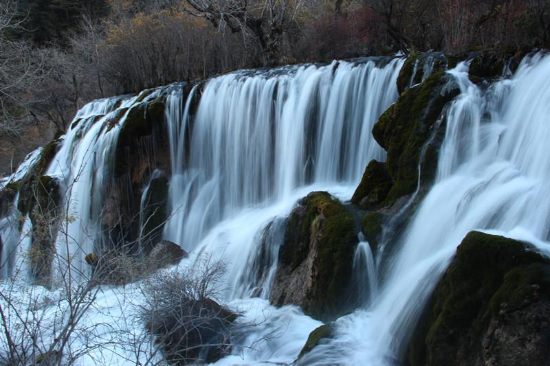 九寨沟风景之瀑布