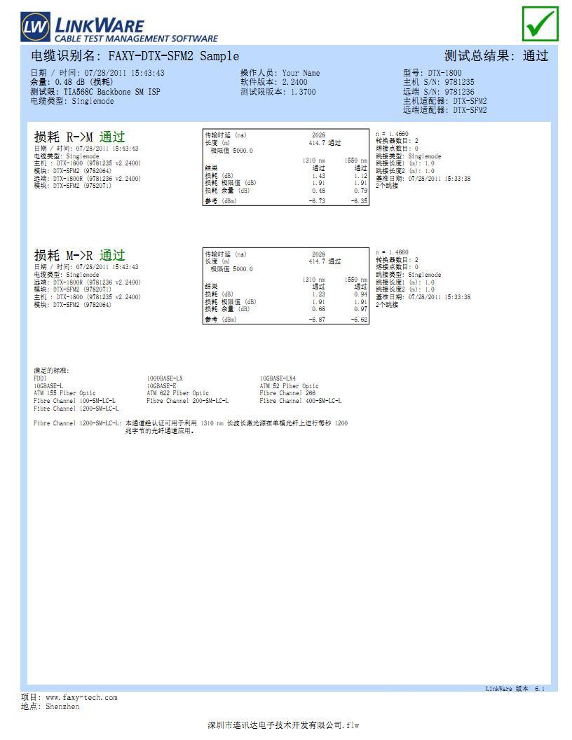 福禄克DTX-SFM2单模光纤模块